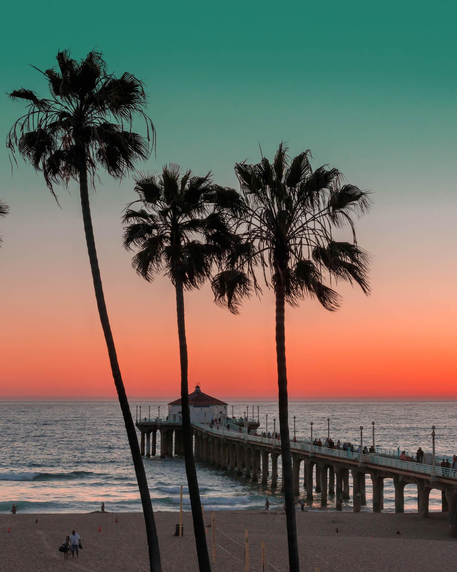 beautiful sunset beach view