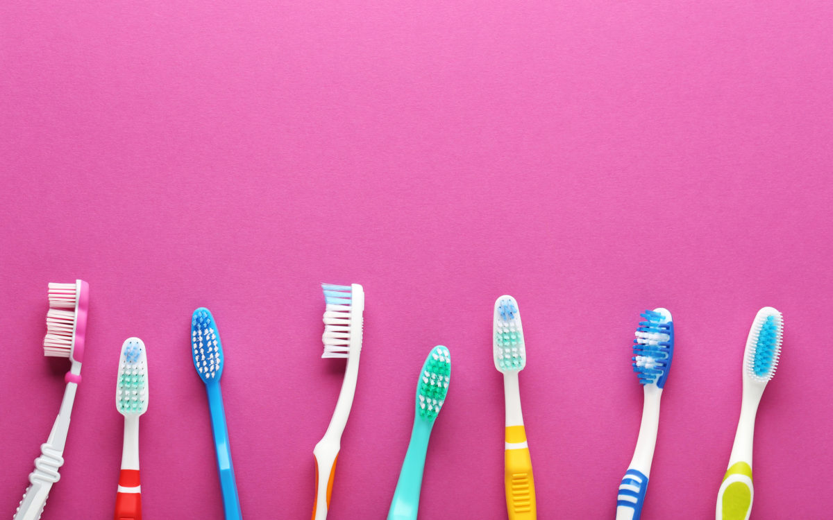 An assortment of toothbrushes